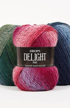 DROPS Delight - Une laine douce et formidable, traitée superwash ! Rose Mauve, Gris Rose, Drops Delight, Laine Drops, Yarn Images, Orange Gris, Chunky Knitting Patterns, Crochet, Turquoise