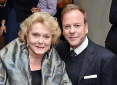 Keifer Sutherland with his mom actress Shirley Douglas ex wife of Donald Sutherland