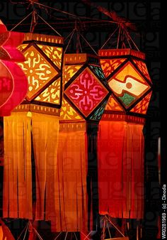 Colorful lantern for sale Diwali Festival of Light at Bombay Mumbai