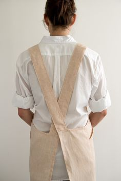 Free cross back apron pattern by Purl Soho More