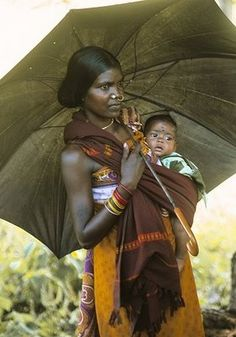 Orissa Mother and Baby  Indian Mothers.  Colorful beauty.  Maternal love.  Hope.  Somebody's Mama.