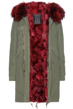 Go for impact with a riot of clashing colour. Parka by Mr. and Mrs Furs.