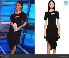 Julie Chen Fashion on Big Brother Big Brother Style, Julie Chen, Cutout Dress, Asymmetrical Dress, Fashion Outfits, Clothes, Black, Dresses, Vestidos