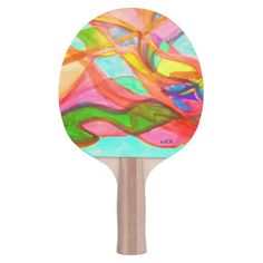 Ping Pong Paddle, Red Rubber Back