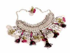 Telkari Necklace Fiber Art Jewelry, Jewelry Art, Fashion Jewelry, Unique Jewelry, Jewellery, Artisan Jewelry, Handcrafted Jewelry, Walmart Jewelry, Sparkly Jewelry