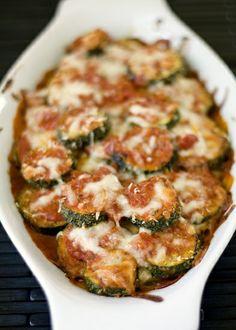Layered zucchini parmesan...
