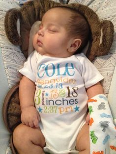 Birth Announcement Personalized Baby Boy by TheMonogramMaker, $14.90