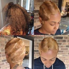 |TRANSFORMATION TUESDAY|Still can't believe this is a quickweave with minimal leave out! Amazing work styled by #ATLStylist @The_Rose_Affect Love this vintage #hairstyle #voiceofhair ========================= Go to VoiceOfHair.com ========================= Find hairstyles and hair tips! =========================