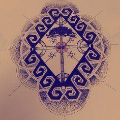 Iconografia Mapuche I Tattoo, Compass Tattoo, Rib Tattoo, Tattoos, Painting, New Tattoos, Art, Symbolic Tattoos, Cthulhu Tattoo