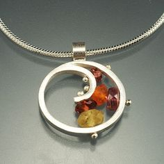 Small Spiral Necklace, QS13N-S
