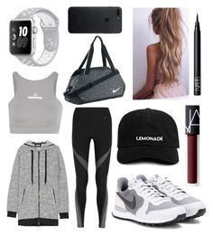 """""""Sport ⚽🎾🏀"""" by augusteee ❤ liked on Polyvore featuring Karl Lagerfeld, NIKE, adidas and NARS Cosmetics"""