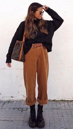 casual outfits for women / casual outfits ; casual outfits for winter ; casual outfits for women ; casual outfits for work ; casual outfits for school ; Spring Fashion Outfits, Casual Fall Outfits, Look Fashion, Autumn Fashion, Autumn Outfits, Indie Fall Outfits, Hipster Fall Fashion, Casual Smart Outfit Women, Winter Street Fashion