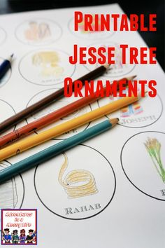 Download and print these Jesse Tree ornaments