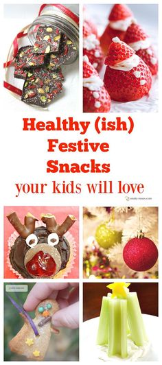 Healthy Christmas Snacks that Your Children will Love. Looking for a great idea or recipe for family or a party? Here are some great ideas that are health (ish).