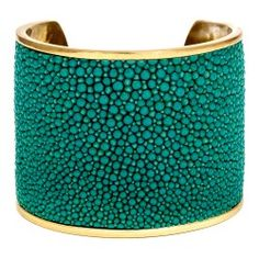 Turquoise stingray cuff. Handmade in Aspen by Taylor and Tessier. Available at Kemo Sabe.