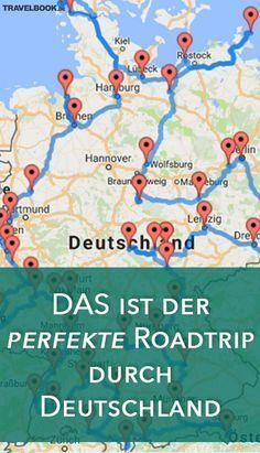 DAS ist der perfekte Roadtrip durch Deutschland The American Randy Olson has specialized in calculating the most effective auto routes for different countries and continents using a computer algorithm Voyage Bali, Destination Voyage, Cool Places To Visit, Places To Travel, Travel Destinations, Africa Destinations, Road Trip Van, Road Trips, Perfect Road Trip