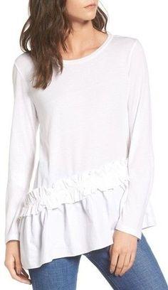 Women's Bp. Asymmetrical Ruffle Hem Top.  #fashion #deals #shopping