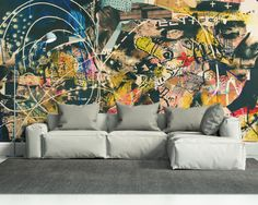 Abstract Graffiti Art Wall Mural | Eazywallz