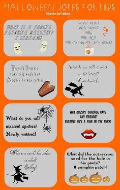 Halloween Jokes for Kids {printable}