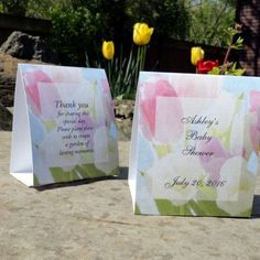 Baby Shower Tulips in Bloom Favors - NEW- Stunning Table Decorations, Unique design, free personalization.