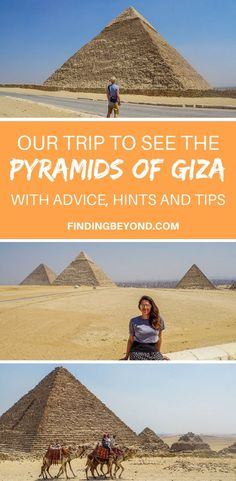Read about our trip to see the Pyramids of Giza in Egypt and take our advice, hints and tips before going to see the wonders yourself. #thisisegypt #egypt #ancientegypt #pyramids #history #travel #travelblogger | Best of Cairo | How to visit Egypts Pyramids | When to visit Egypt | Top tips for Egypt | Tour to Egypts Pyramids | Egypts Highlights |