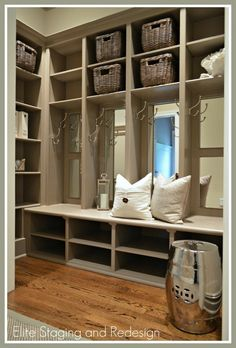 Mud room - I WANT THIS!