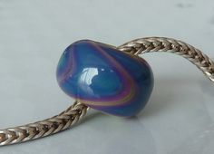 Silver Core Option Silver Glass Handmade Lampwork by doriwallace