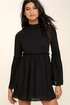 2ca095507c When your wardrobe could use a little extra love reach for the Tender  Loving Care Black. Cute Black DressBlack Long Sleeve ...