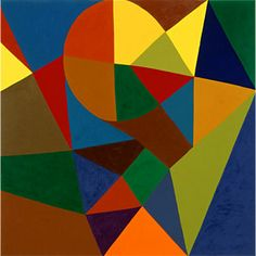 Untitled, 2001. Harriet Korman's (b1947) abstract paintings are far more than celebrations of color. Her compositions of intersecting shapes, filled in with dynamic hues, challenge viewers to adopt a whole new way of seeing