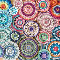 Follow Bymamis colourful journey through #52weeksofmandalas
