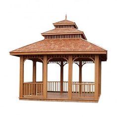Pavillon Milton aus Teakholz www.tp-moebel.de