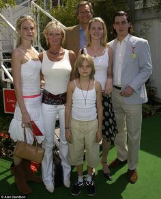 the delevignes: Poppy, Pandora, Charles, Chloe, Chloe's ex Louis and Cara in 2003