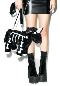 Dark Punk Unicorn Shoulder Bag sold by Sugarless Tokki. Shop more products from Sugarless Tokki on Storenvy, the home of independent small businesses all over the world. Fall Handbags, Handbags On Sale, Purses And Handbags, Unique Handbags, Popular Handbags, Unique Bags, Dark Punk, Rave Accessories, Halloween Accessories