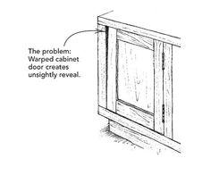 Fixing warped doors - Fine Homebuilding Tip  sc 1 st  Pinterest & Fixing warped cabinet doors - Fine Homebuilding Question u0026 Answer ...