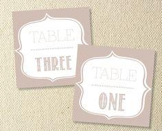 Printable Vintage Wedding Table Numbers by KitsonPress on Etsy, $15.00