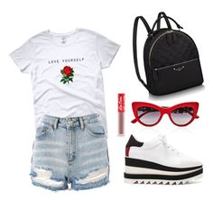 """Untitled #360"" by fweakydarcy on Polyvore featuring Dolce&Gabbana, Topshop, STELLA McCARTNEY and Lime Crime"