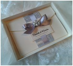 Luxury+Handmade+sparkle+and+glitter+Boxed+by+CrystalCoutureInvite