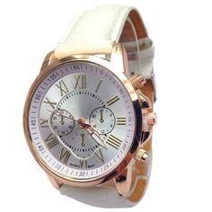 2017 Geneva Watches Women Men Casual Roman Numeral Watch For Men Women PU Leather Quartz Wrist Watch