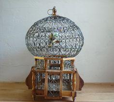 Petite cage oiseau fait main par un artisan tunisien - Petite cage oiseau deco ...