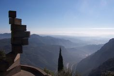 View from the St. Benet Monastery at Monserrat in Spain