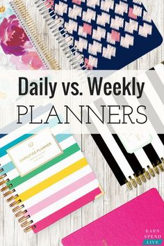 Daily vs. Weekly Planners: Which Planner is Right for You