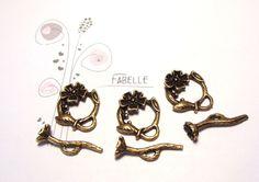 Süße Verschlüsse im Blumenstil