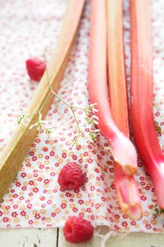 rhubarb  wasn't just for baking.  Pull a piece, tear off the leaf, and break it in two to share with your sister.