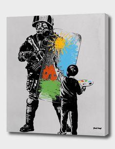 «Turmoil Paint» Canvas Print by rob dobi | Curioos