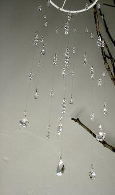 Items similar to Small Bling Wedding Mobile Swarovski Crystal Baby Nursery Mobile Hanging Crystal Ornament Baby Crystal Mobile Wedding Decor Babyshower Gift on Etsy Crystal Room, Crystal Grid, Diy Crafts To Do, Diy Arts And Crafts, Bling Wedding, Crystal Wedding, Sun Catchers, Crystal Mobile, Diy Wind Chimes