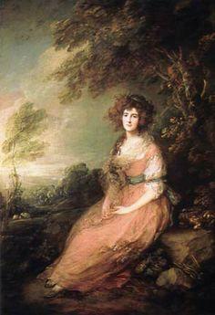 detail for -Thomas Gainsborough. Portrait of Mrs. Richard Brinsley Sheridan