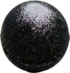 Black Bath Bomb 5.7 oz w/ Silver Glitter Aloe Vera Kaolin Clay scented w/ Little Black Dress