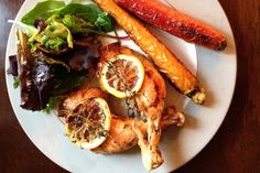 Fall Menu Recipes – Organic Pan Roast Chicken with lemon and thyme.