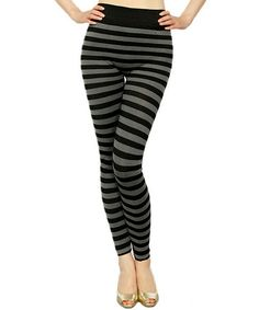 Fuchsia & Black Stripe Seamless Leggings - Women | Seamless ...
