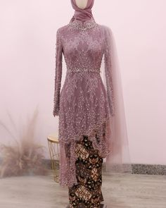 Kebaya Wedding, Wedding Hijab, Wedding Dresses, Kebaya Simple, Hijab Dress Party, Model Kebaya, Kebaya Muslim, Hijab Casual, Ootd Hijab